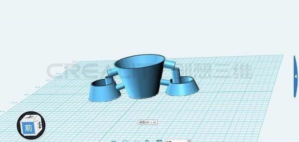小学生3D打印作业:节水小花盆