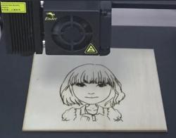 创想三维:3D打印机激光雕刻教程,留下回忆雕刻你的美