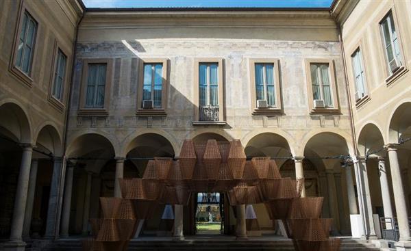 米兰展出建筑3D打印机制成的可再生生物塑料砖