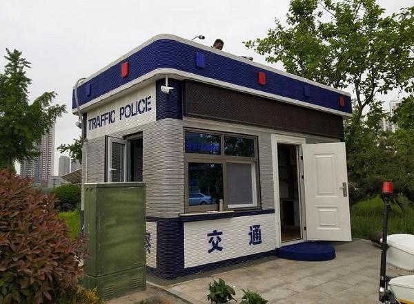 3D打印机新应用:3D打印交警岗亭亮相菏泽街头