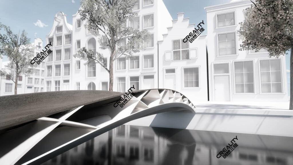 天下上第一座蚁合物3D打印人行桥 创思三维